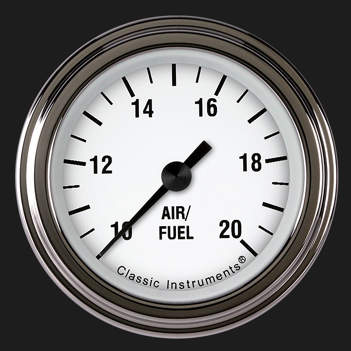 """Picture of White Hot 2 1/8"""" Air Fuel Ratio Gauge"""