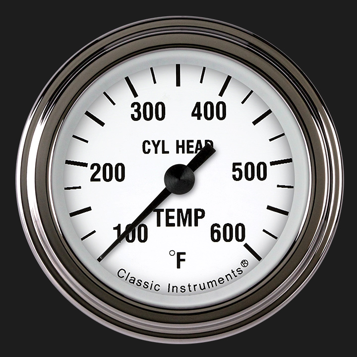 """Picture of White Hot 2 1/8"""" Cylinder Head Temp. Gauge"""