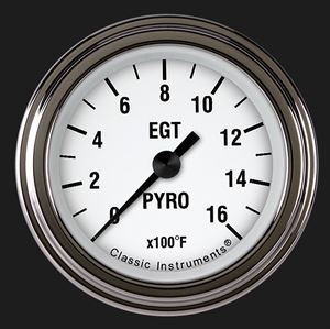 """Picture of White Hot 2 1/8"""" Exhaust Gas Temp. Gauge"""
