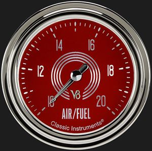"""Picture of V8 Red Steelie 2 5/8"""" Air Fuel Ratio Gauge"""