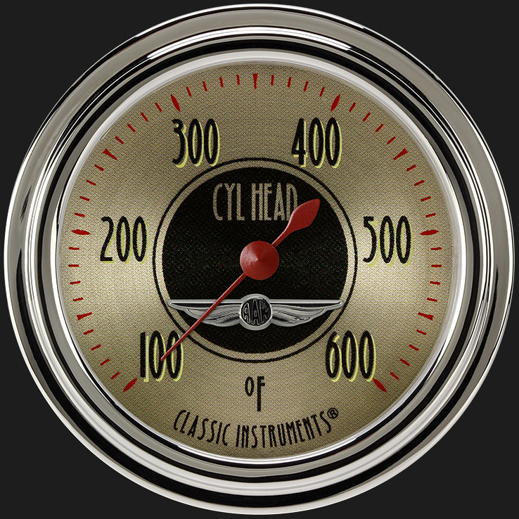 """Picture of All American Nickel 2 5/8"""" Cylinder Head Temp. Gauge"""