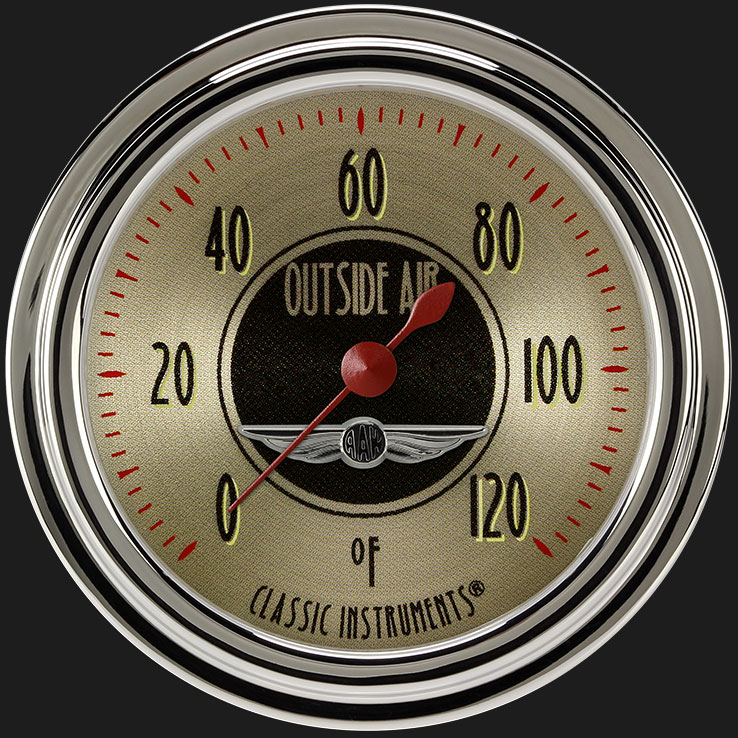 """Picture of All American Nickel 2 5/8"""" Outside Air Temp Gauge"""