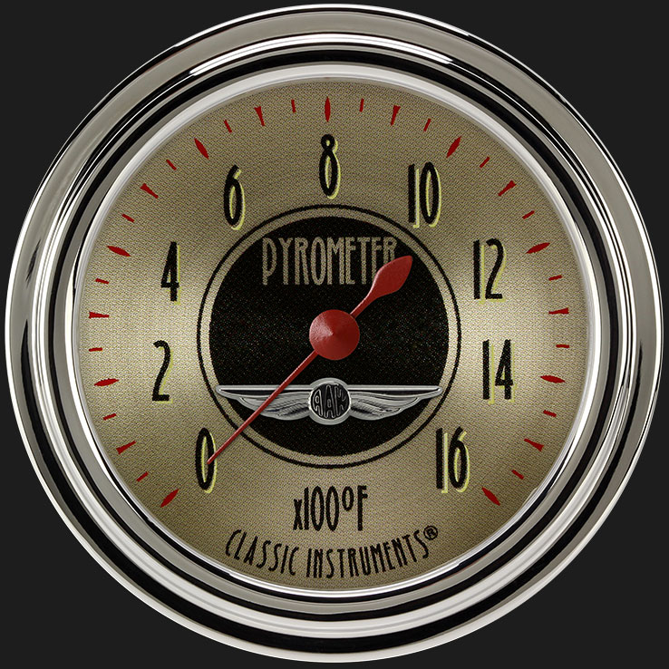 """Picture of All American Nickel 2 5/8"""" Exhaust Gas Temp. Gauge"""