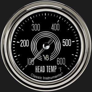 """Picture of V8 Speedster 2 5/8"""" Cylinder Head Temp. Gauge"""