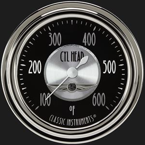 """Picture of All American Tradition 2 5/8"""" Cylinder Head Temp. Gauge"""