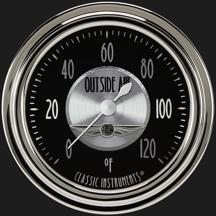 """Picture of All American Tradition 2 5/8"""" Outside Air Temp Gauge"""