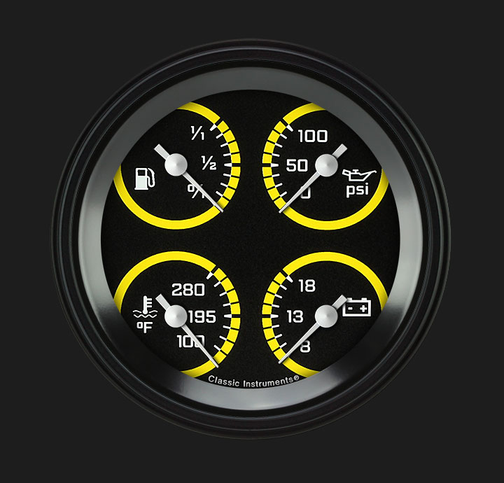 "Picture of AutoCross Yellow 3 3/8"" Quad"