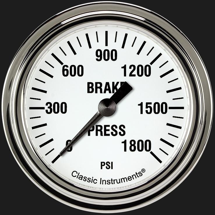"Picture of White Hot 2 5/8"" Brake Pressure Gauge"