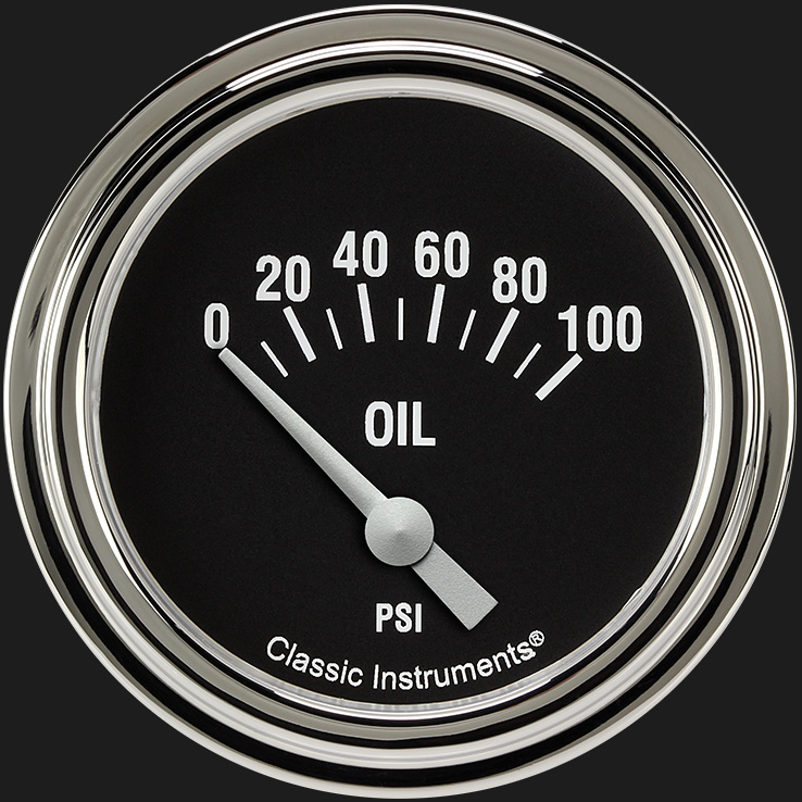 "Picture of Hot Rod 2 5/8"" Oil Pressure Gauge"