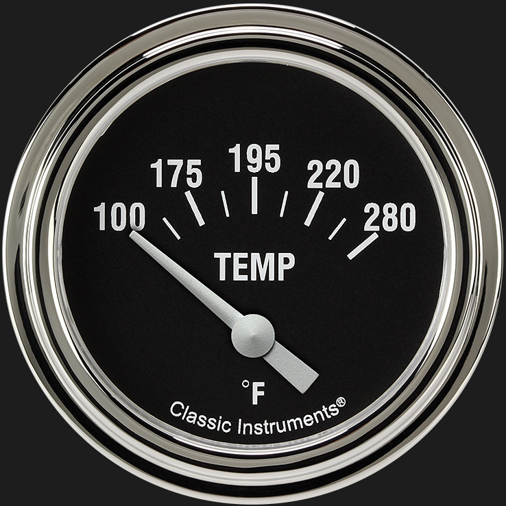 "Picture of Hot Rod 2 5/8"" Water Temperature Gauge"
