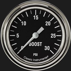 """Picture of Hot Rod 2 5/8"""" Boost Gauge, 30 psi"""