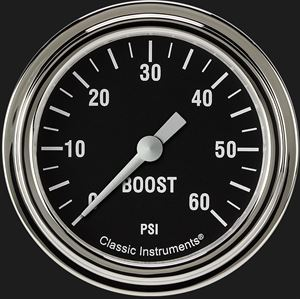 """Picture of Hot Rod 2 5/8"""" Boost Gauge, 60 psi"""
