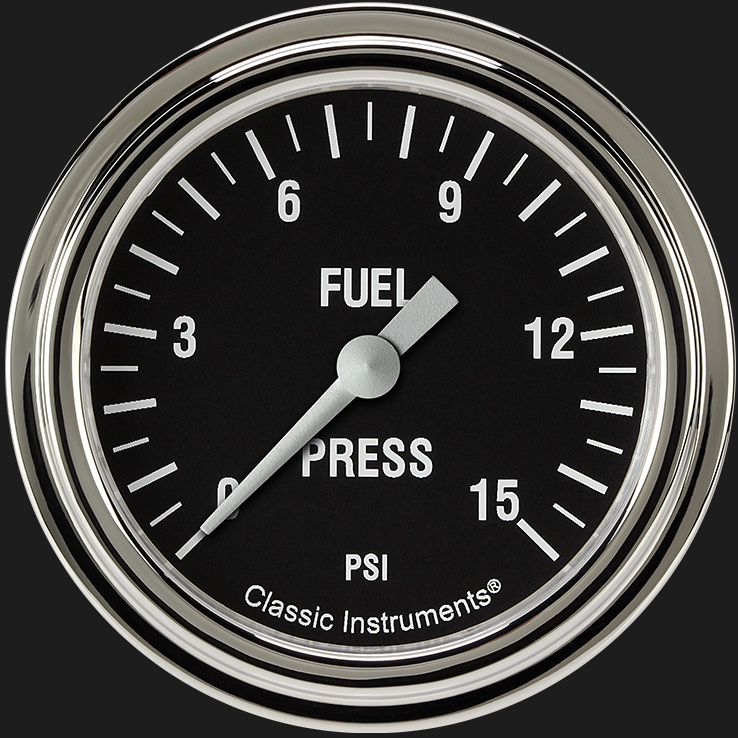 "Picture of Hot Rod 2 5/8"" Fuel Pressure Gauge, 15 psi"
