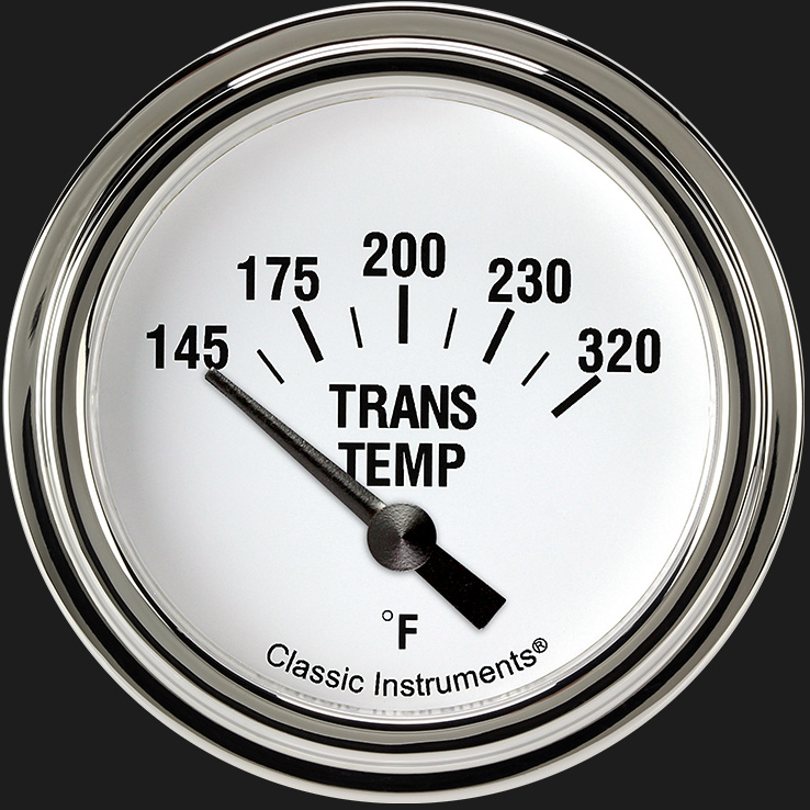"Picture of White Hot 2 5/8"" Transmission Temperature Gauge"