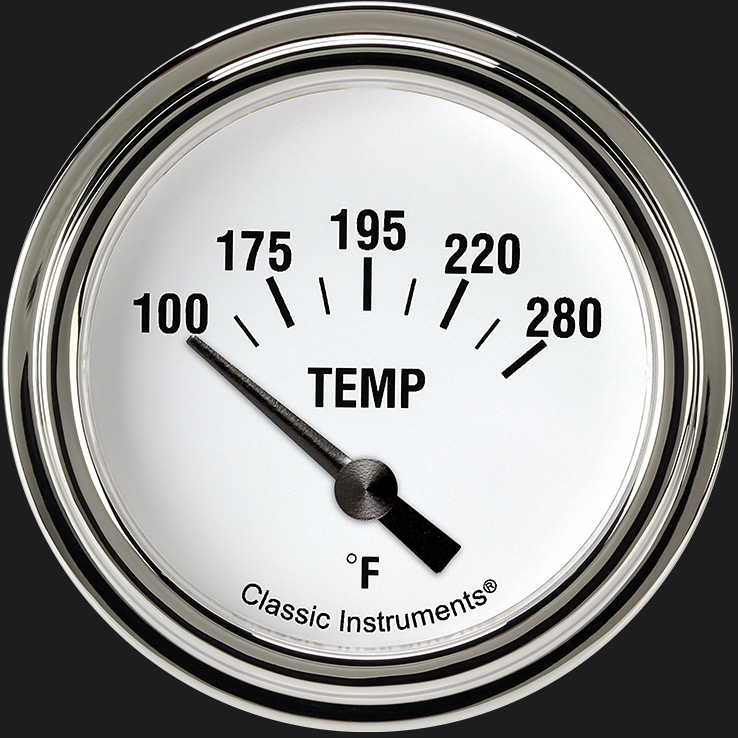 "Picture of White Hot 2 5/8"" Water Temperature Gauge"