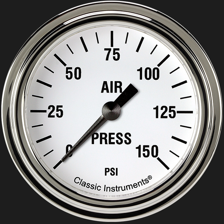 """Picture of White Hot 2 5/8"""" Air Pressure Gauge"""