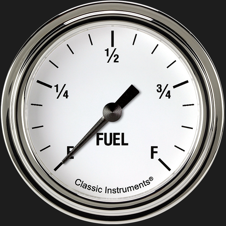 """Picture of White Hot 2 5/8"""" Fuel Gauge"""