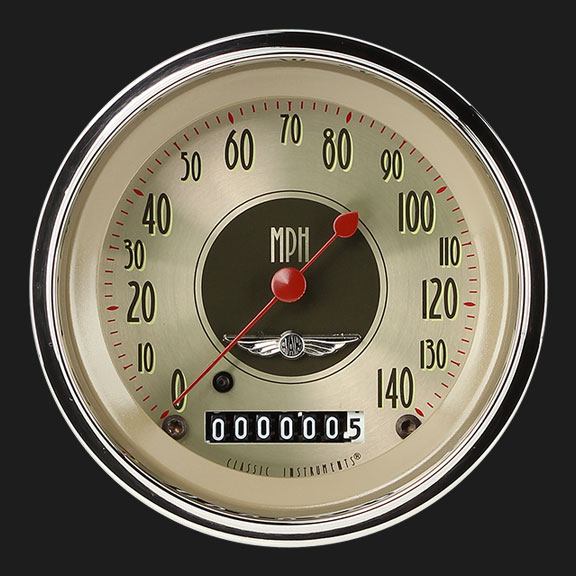 """Picture of All American Nickel 3 3/8"""" Speedometer"""