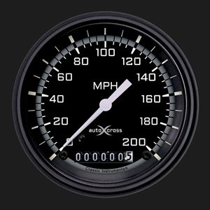 "Picture of AutoCross Gray 3 3/8"" Speedometer"