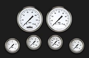 Picture of White Hot Six Gauge Set 351