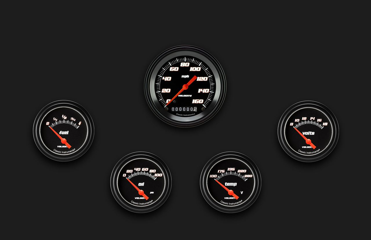 Picture of Velocity Black Five Gauge Set 200