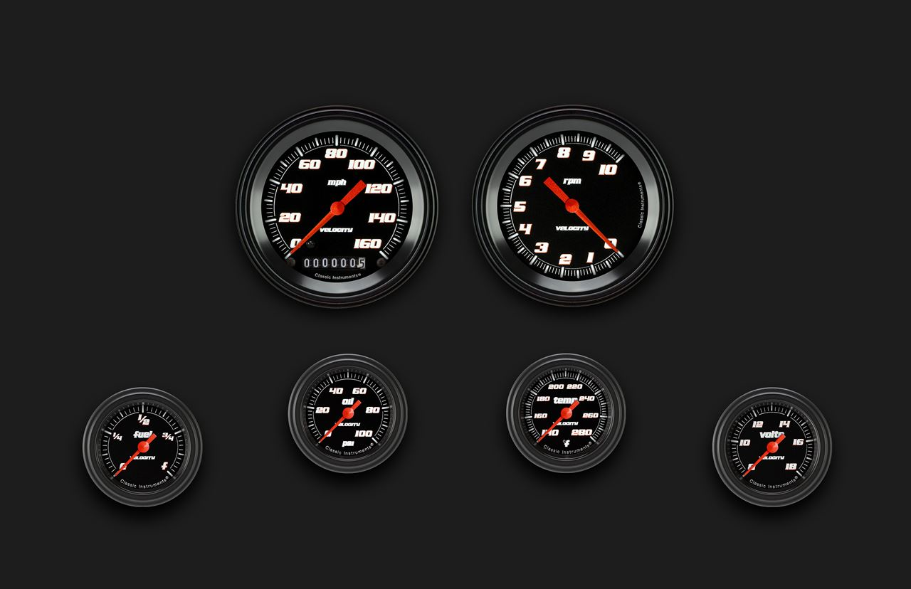 Velocity Black Six Gauge Set 101