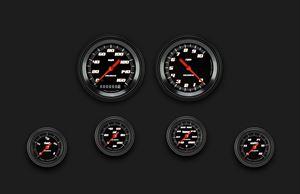 Picture of Velocity Black Six Gauge Set 101