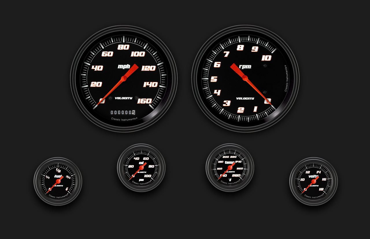 Picture of Velocity Black Six Gauge Set 151