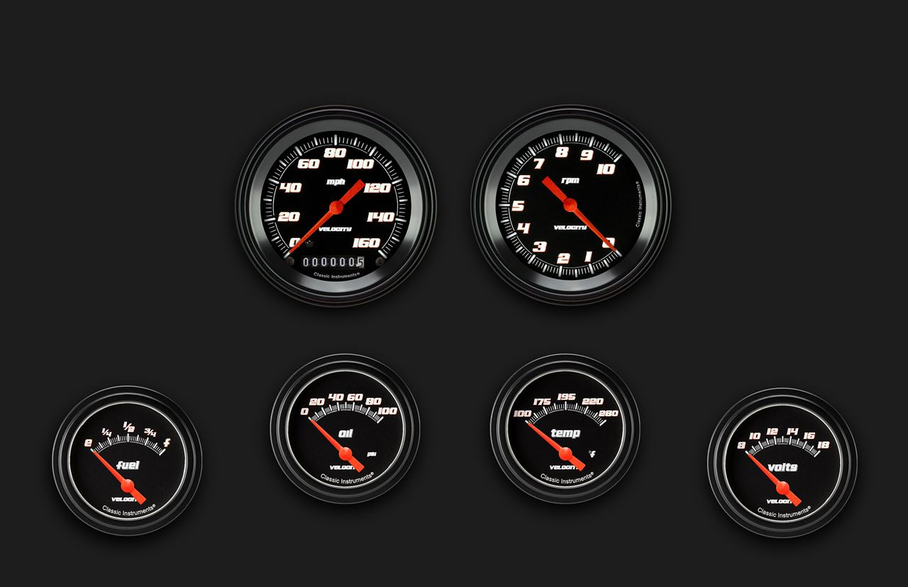 Picture of Velocity Black Six Gauge Set 201
