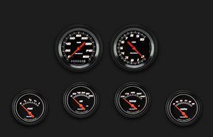 Picture of Velocity Black Six Gauge Set 201