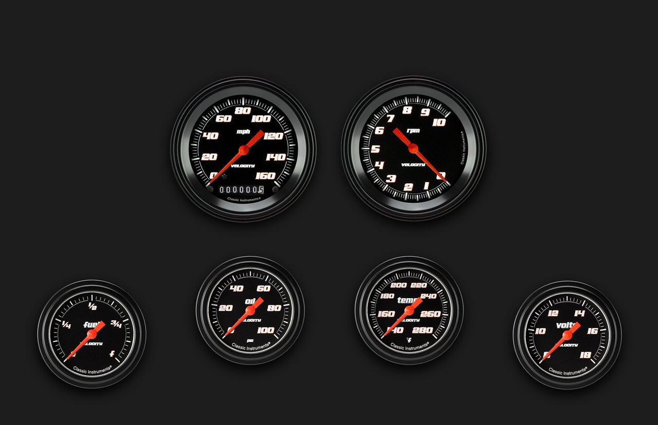 Picture of Velocity Black Six Gauge Set 301