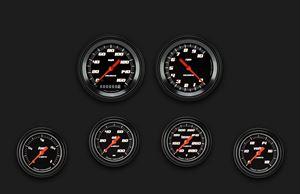 Picture of Velocity Black Six Gauge Set 301
