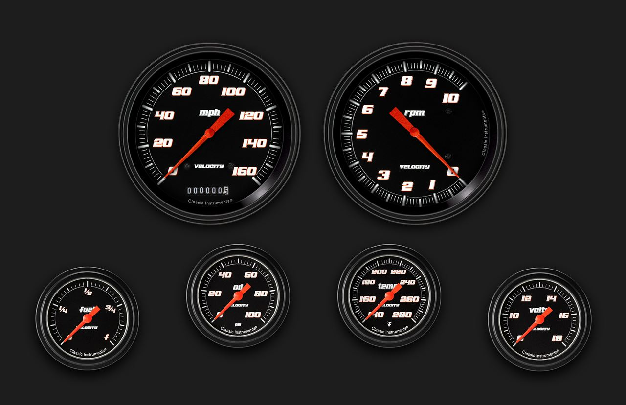 Picture of Velocity Black Six Gauge Set 351
