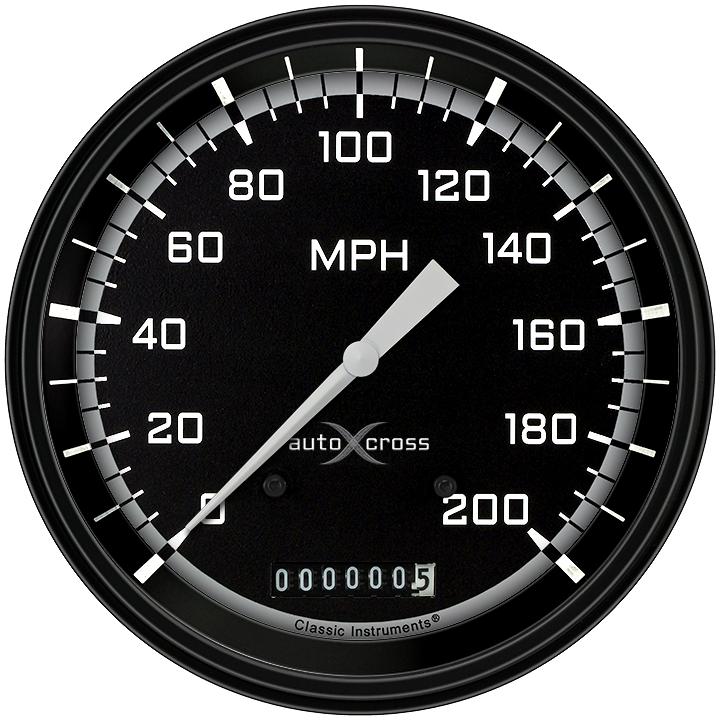 "Picture of AutoCross Gray 4 5/8"" Speedometer"