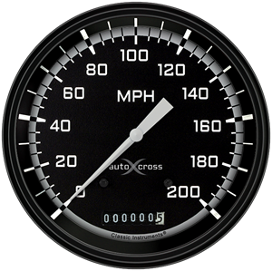"Picture of AutoCross Gray 4 5/8"" Speedometer"
