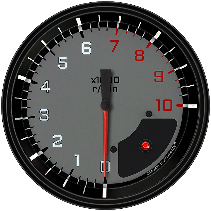 "Picture of AutoCross Gray 4 5/8"" Tachometer"