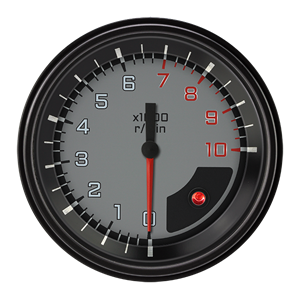 "Picture of AutoCross Gray 3 3/8"" Tachometer"