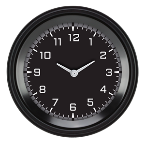 """Picture of AutoCross Gray 3 3/8"""" Clock"""