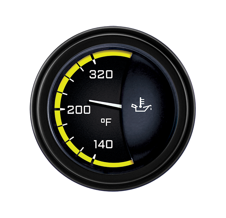 """Picture of AutoCross Yellow 2 1/8"""" Oil Temp"""