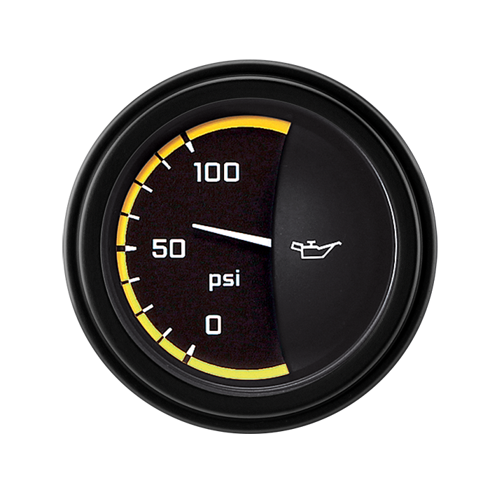 """Picture of AutoCross Yellow 2 1/8"""" Oil Pressure"""