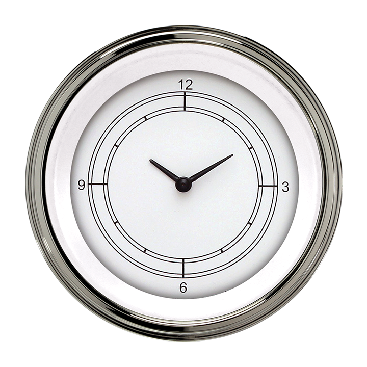 "Picture of Classic White 3 3/8"" Clock"
