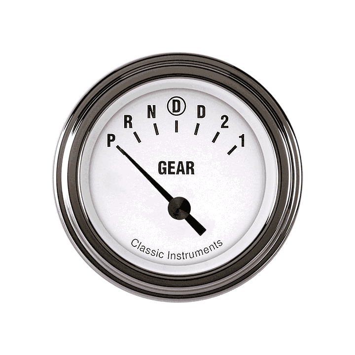 """Picture of White Hot 2 1/8"""" Gear Indicator"""