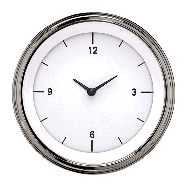 """Picture of White Hot 3 3/8"""" Clock"""