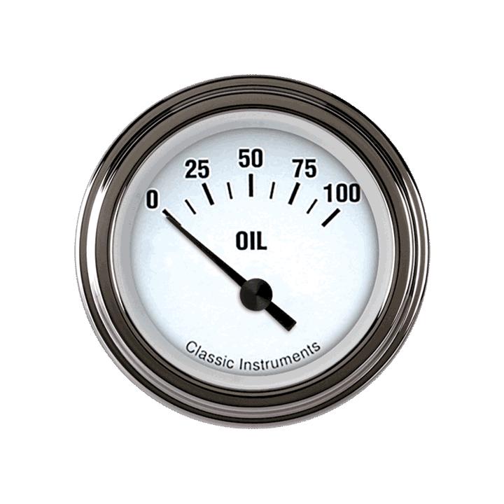 """Picture of White Hot 2 1/8"""" Oil Pressure"""