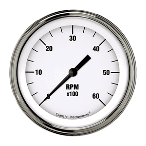 """Picture of White Hot 3 3/8"""" Tachometer"""