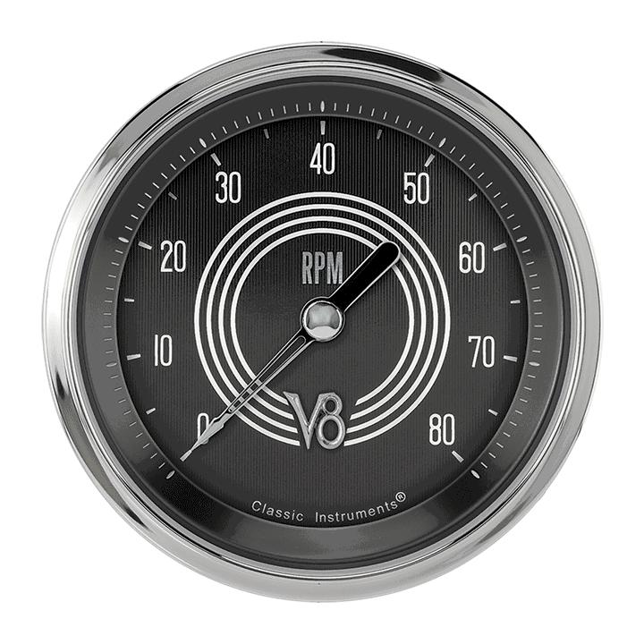 """Picture of V8 Speedster 3 3/8"""" Tachometer"""