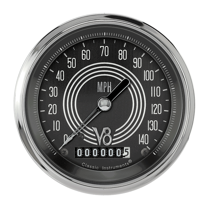 "Picture of V8 Speedster 3 3/8"" Speedometer"