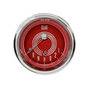 """Picture of V8 Red Steelie 2 1/8"""" Gear Indicator, Overdrive"""