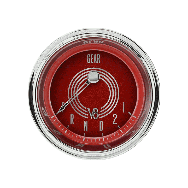 "Picture of V8 Red Steelie 2 1/8"" Gear Indicator"