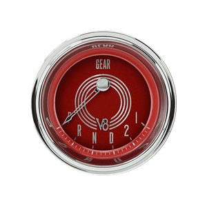 """Picture of V8 Red Steelie 2 1/8"""" Gear Indicator"""